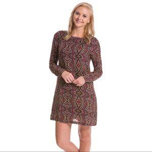 PrAna Maroon Cece Medallion Print Shift Dress